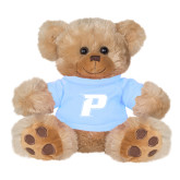 Plush Big Paw 8 1/2 inch Brown Bear w/Light Blue Shirt-P