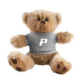 Plush Big Paw 8 1/2 inch Brown Bear w/Grey Shirt-P