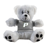 Plush Big Paw 8 1/2 inch White Bear w/Grey Shirt-P