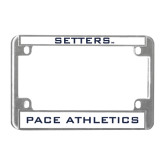 Metal Motorcycle License Plate Frame in Chrome-Setters