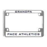 Metal Motorcycle License Plate Frame in Chrome-Grandpa