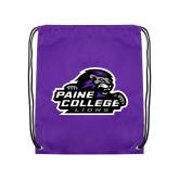 Purple Drawstring Backpack-Primary Mark
