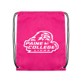 Pink Drawstring Backpack-Primary Mark