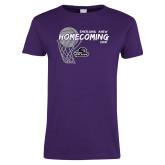 Ladies Purple T Shirt-Homecoming 2018