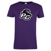 Ladies Purple T Shirt-Lion PC