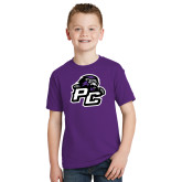 Youth Purple T Shirt-Lion PC