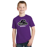Youth Purple T Shirt-Baseball