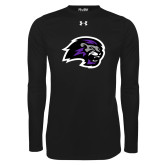 Under Armour Black Long Sleeve Tech Tee-Lion Head