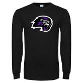 Black Long Sleeve T Shirt-Lion Head