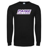Black Long Sleeve T Shirt-Paine College Lions
