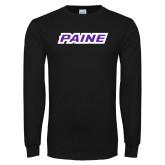 Black Long Sleeve T Shirt-Paine
