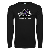 Black Long Sleeve T Shirt-Track & Field