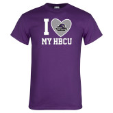 Purple T Shirt-I Heart My HBCU