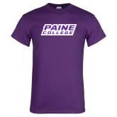 Purple T Shirt-Paine College Lions