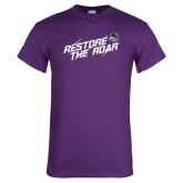 Purple T Shirt-Restore the Roar