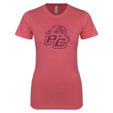 Next Level Ladies SoftStyle Junior Fitted Pink Tee-Lio PC Pink Glitter