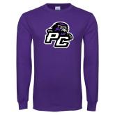 Purple Long Sleeve T Shirt-Lion PC