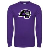 Purple Long Sleeve T Shirt-Lion Head