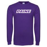 Purple Long Sleeve T Shirt-Paine