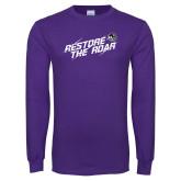 Purple Long Sleeve T Shirt-Restore the Roar