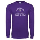 Purple Long Sleeve T Shirt-Track & Field