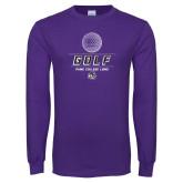 Purple Long Sleeve T Shirt-Golf
