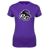 Ladies Syntrel Performance Purple Tee-Lion PC
