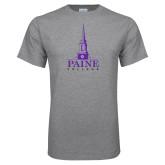 Grey T Shirt-Paine College Mark