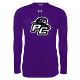 Under Armour Purple Long Sleeve Tech Tee-Lion PC