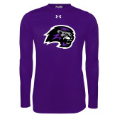 Under Armour Purple Long Sleeve Tech Tee-Lion Head