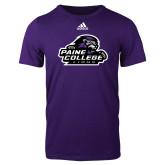 Adidas Purple Logo T Shirt-Primary Mark