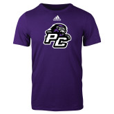 Adidas Purple Logo T Shirt-Lion PC