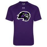 Under Armour Purple Tech Tee-Lion Head