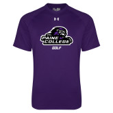 Under Armour Purple Tech Tee-Golf