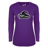 Ladies Syntrel Performance Purple Longsleeve Shirt-Primary Mark