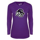 Ladies Syntrel Performance Purple Longsleeve Shirt-Lion PC