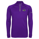 Under Armour Purple Tech 1/4 Zip Performance Shirt-Primary Mark