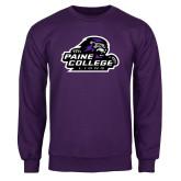Purple Fleece Crew-Primary Mark