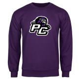 Purple Fleece Crew-Lion PC