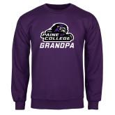 Purple Fleece Crew-Grandpa