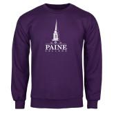 Purple Fleece Crew-Paine College Mark