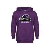Youth Purple Fleece Hoodie-Volleyball