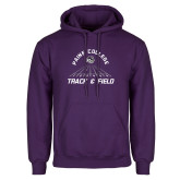 Purple Fleece Hoodie-Track & Field