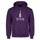Purple Fleece Hoodie-Paine College Mark