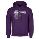 Purple Fleece Hoodie-Homecoming 2018