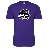 Next Level SoftStyle Purple T Shirt-Lion PC