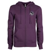 ENZA Ladies Purple Fleece Full Zip Hoodie-Lion PC