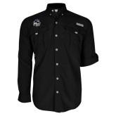 Columbia Bahama II Black Long Sleeve Shirt-Lion PC