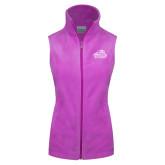 Columbia Ladies Full Zip Lilac Fleece Vest-Primary Mark
