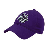 Purple Twill Unstructured Low Profile Hat-Lion PC